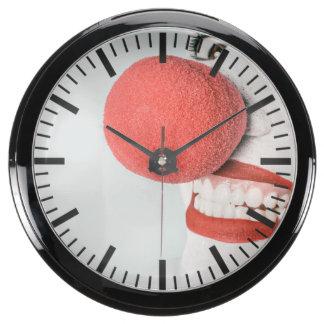 Red nose clown aquarium clock