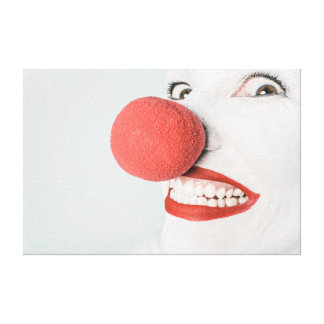 Red nose clown canvas prints