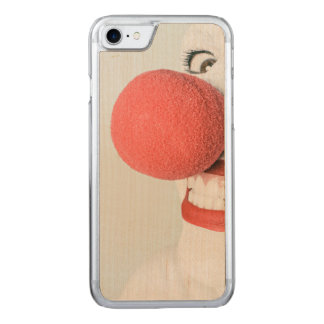 Red nose clown carved iPhone 7 case
