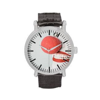 Red nose clown wristwatch