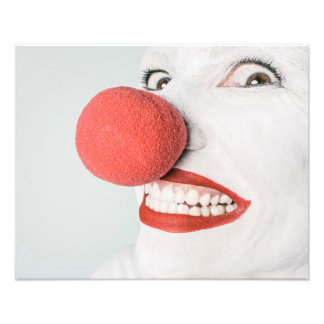 Red nose clown photo print