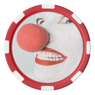 Red nose clown poker chip set