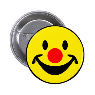 Red Nose Smiley - yellow + your ideas 6 Cm Round Badge