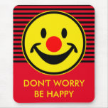 Red Nose Smiley - yellow + your ideas Mouse Pad