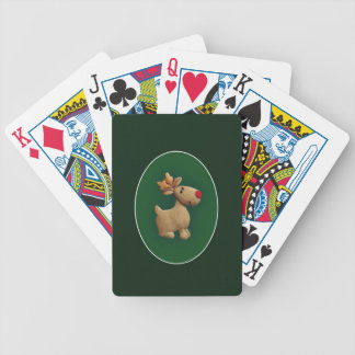 Red Nosed Reindeer Bicycle Playing Cards