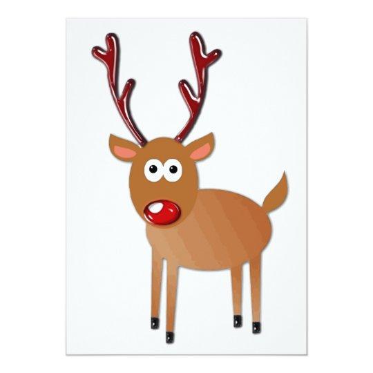 Red Nosed Reindeer Card