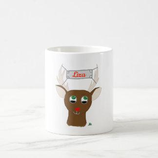Red-Nosed Reindeer Coffee Mug