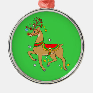 Red-Nosed Reindeer Happy Holidays Christmas Ornament