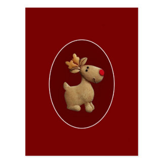Red Nosed Reindeer Postcard