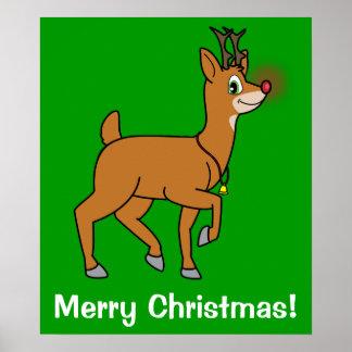 Red-Nosed Reindeer Print