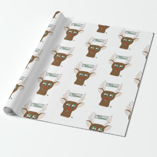 Red-Nosed Reindeer Wrapping Paper