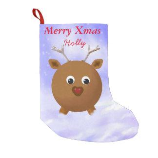 Red Nosed Reindeer Xmas Stocking