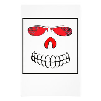 Red Nosed Smile Custom Stationery