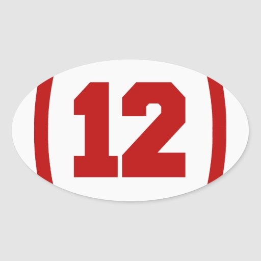 Red Number 12 Red_number_12_football_sticker ...