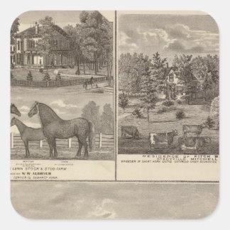 Red Oak farm & residence, Center Tp Square Sticker