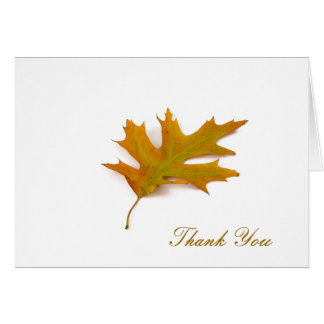 Red Oak Leaf by Petr Kratochvil, Thank You Note Note Card