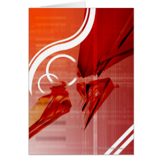 Red objects with white lines card