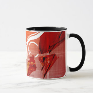 Red objects with white lines mug