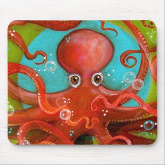 Red Octopus 1 Design Mouse Mat