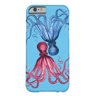 Red Octopus Blue Octopus Barely There iPhone 6 Case