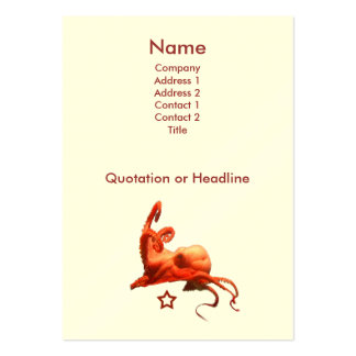 Red Octopus Pack Of Chubby Business Cards