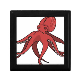 Red octopus gift box