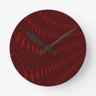 Red Octopus Tentacles Wall Clock