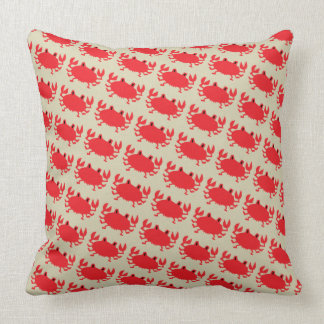 Red of sea crab cushion
