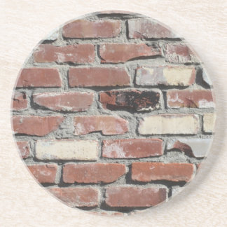 Red old brick wall effect coaster