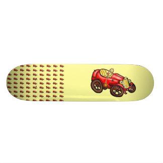 Red old car skate decks
