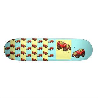 Red old car skateboard deck