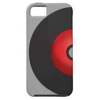 Red Old School Vinyl Record iPhone 5 Case
