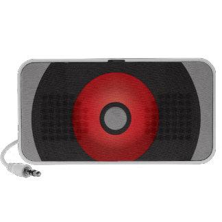 Red Old School Vinyl Record Travelling Speaker