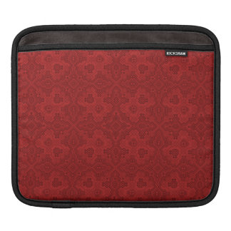 Red Old Tie-up Pattern IPad case