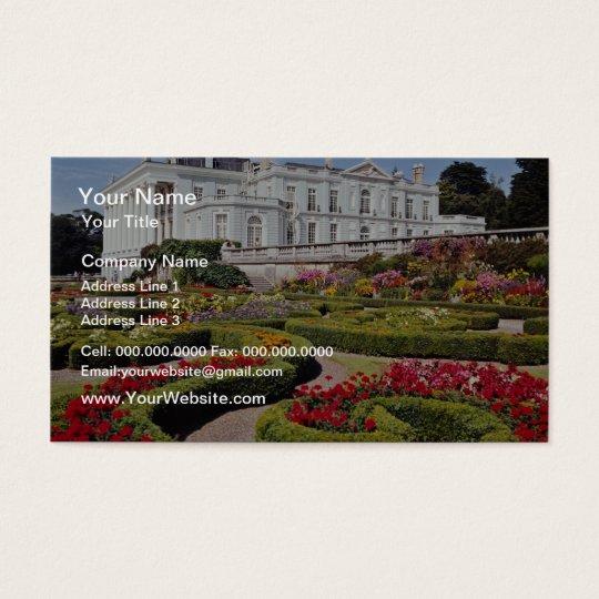 Red Oldway mansion, Paignton, Devon, England flowe Business Card