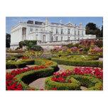 Red Oldway mansion, Paignton, Devon, England flowe Postcard