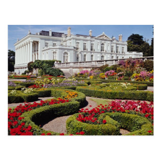 Red Oldway mansion, Paignton, Devon, England flowe Postcard