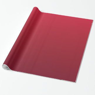 Red Ombre Coffee Christmas Cup Style Wrapping Paper