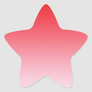 Red Ombre Star Sticker