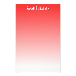 Red Ombre Stationery