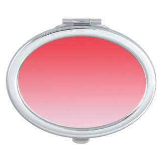 Red Ombre Travel Mirror