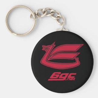 Red on Black Dragon Keychain