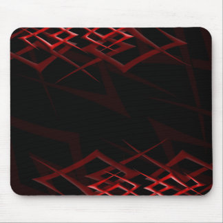 """Red on Black """"Thorn"""" Mousepad"""