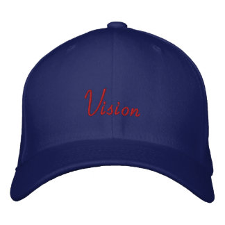 Red on Blue Vision Embroidered Cap
