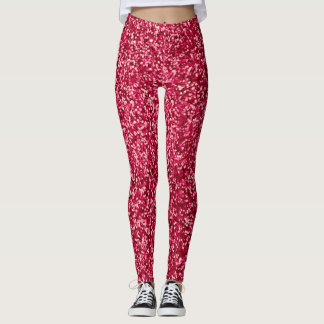Red on fire leggings