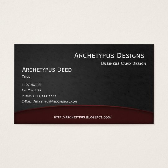 Red on Grey Curves Business Card Style 1