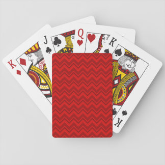 Red on Red Chevron Playing Cards