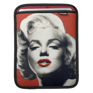 Red on Red Lips Marilyn iPad Sleeve
