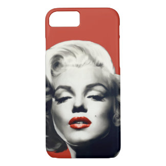 Red on Red Lips Marilyn iPhone 8/7 Case