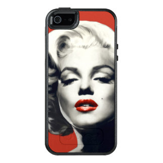 Red on Red Lips Marilyn OtterBox iPhone 5/5s/SE Case